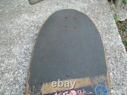 1980's. SANTA CRUZ SLASHER Vintage skateboard deck rare KEITH MEEK