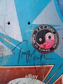 1983 ORIGINAL Powell Peralta Hawk Skateboard Deck Blue Caballero Mullen SIGNED