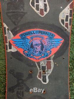 1983 Rare Og Powell Peralta Tony Hawk Chicken Skull Skateboard Deck