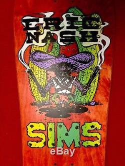 1987 Sims Eric Nash Bandito Skateboard Deck NOS OG