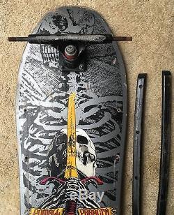 1987 Vintage Powell Paralta Skull & Sword Skateboard Deck Powell-Paralta Skate