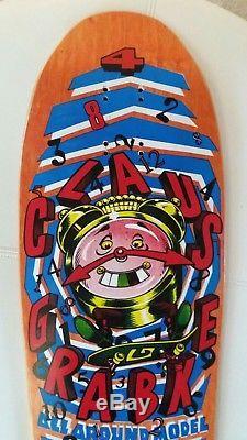 1990 Santa Cruz Claus Grabke All Around Vintage Skateboard Deck