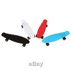 22/24/27Retro Mini Skateboard Cruiser Style Complete Deck Plastic Skake Board
