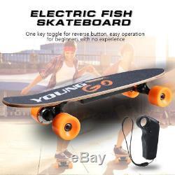 29 Electric Skateboard Longboard 7 Ply Maple Deck Motorized Remote Skate Scoote