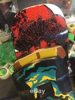 3 Omen Longboard Decks Used Vicious Griptape Airship, Riot, Sugar kick, Deal