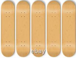 5 BLANK Skateboard DECKS Deck 8.5 in NATURAL + GRIPTAPE