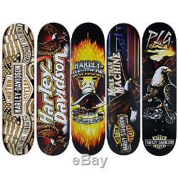 5 Darkstar Harley Davidson Skateboard Deck Decks 7.875 8.0 8.125 Bulk Lot