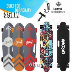 7/8 Maple Deck Dual Motor Electric Skateboard Adults Longboard Crusier with Remote