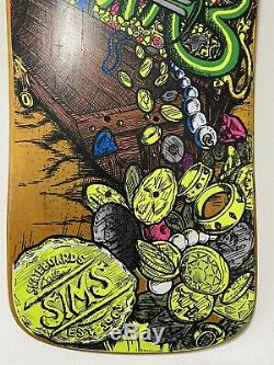87-88 Sims Kevin Staab Pirate NOS Original Vintage Deck Only Rare Colour Stain