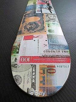AUTHENTIC SIGNED & RARE Futura FLOM Skateboard Supreme Warhol Koons Hirst HUF