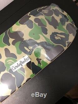 A Bathing Ape Bape ABC Skateboard Deck Green Camo IN HAND READY TO SHIP