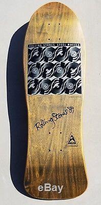 Airbourne Rolling Stones band deck skateboard NOS rare vintage Zorlac 1980's OG