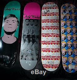Alien Workshop x Andy Warhol Round 3 Skateboards Set of 4 Decks