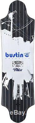 BUSTIN EQ RIVER BLK WHT Longboard Deck-10x36.5 29.5wb