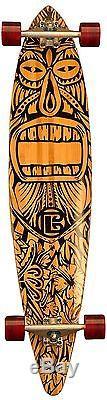 Bamboo Skateboard Pintail Longboard Tiki Man 44 x 9.5 deck Complete NEW