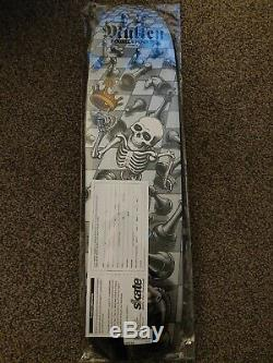 Bones Brigade Rodney Mullen 12th Series Reissue Skateboard Deck Silver 7.4
