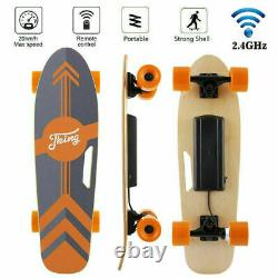 CAROMA Electric Skateboard Power Motor Cruiser Maple Deck With Wireless Remote