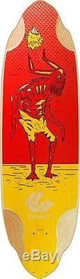 COMET VOODOO D2 36 RED YEL Longboard Deck-10.25x36