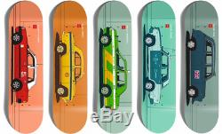 Chocolate Skateboards World Taxis Evan Hecox Art Full Series Lot Set Of 5 Decks