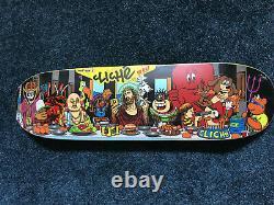 Cliche Last Supper Skateboard Deck. 101 World Industries Marc Mckee Screened