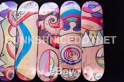 Complex Con 2017 Takashi Murakami Eyes Mouth Face & Dobtopus Set Skate Decks