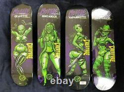 Creature Horror Babes skateboard deck full set Munk One, New, Rare