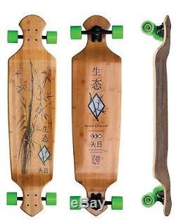 Drop Deck 43 Longboard Skateboard Complete Bamboo