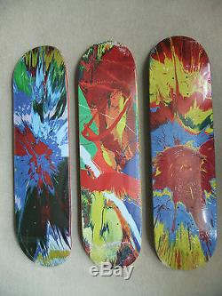 Damien Hirst Spin 3 Supreme Skateboard Deck Set. MINT. Still Sealed. Rare