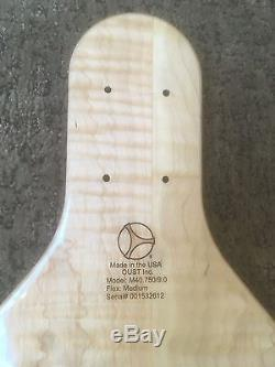 Dissent longboards powered by Oust Bearing Exotic Spalted/Flamed Maple longboard