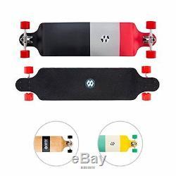 EIGHTBIT 41 Drop Down Deck Cruise Long Board Skateboard Maple Wood Red Block