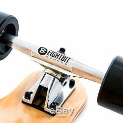 EIGHTBIT 41 Inch Drop Down Deck Longboard Skateboard Cruise Pale Maple Wood NEW