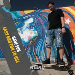 Electric Skateboard 2x350W Dual Motorized Longboard Deck Skate 18 MPH 13 Miles