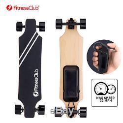 Electric Skateboard DUAL 800W Hub Motor Bluetooth Remote Maple Deck Longboard