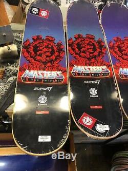 Element He-Man Super 7 Masters Of The Universe Full Set 4 Skateboard Decks Heman