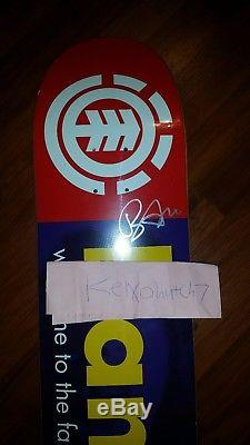 Element bam margera first skateboard RE ISSUE AUTOGRAPHED jackass HIM cky 1/50