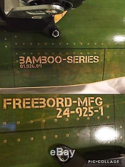 FREEBORD BOMBER BAMBOO Series 85cm DaBlue Wheels Longboard Snowboard Skateboard