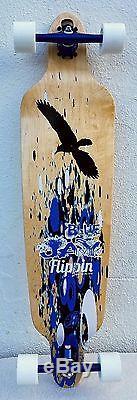 Flippin Board Co Bluejay Bamboo Longboard Complete Skateboard