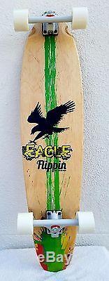 Flippin Board Co Eagle Kicktail Longboard Skateboard Cruiser Freeride arbor wood