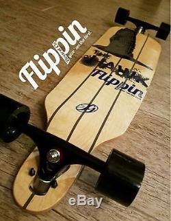 Flippin Board Co Hawk Drop Down Bamboo Freeride Longboard Skateboard