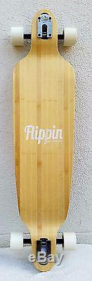Flippin Board Co Heron bamboo Drop Down Through Longboard Complete