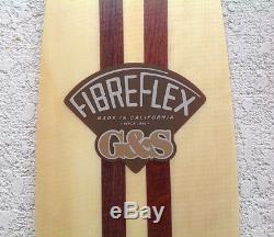 G&S Fiberflex Longboard Skateboard Deck Limited Signature Edition, New