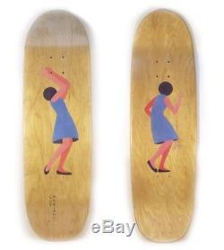 Geoff McFetridge Girl Mariano Art Dump Alumni skateboard deck 9.125