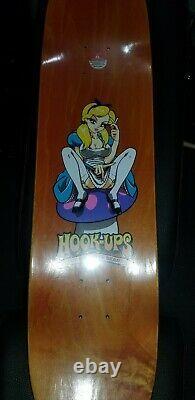 HOOK-UPS Alice Skateboard deck Jeremy Klein JK Industries RARE in plastic