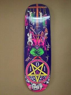 Heritage 101 Natas Kaupas Devil Worship Skateboard Deck Neon Colorway