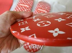 Homage Supreme RED louis LOGO BOX skateboard deck limited Trunk Monogram kaws V