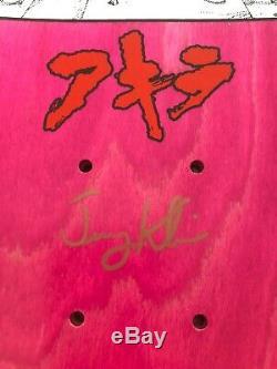 Hook-Ups JK Industries Akira Tetsuo Skateboard Deck Rare Anime Manga Signed