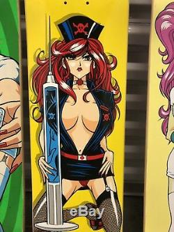 Hook ups skateboard Red Hair Nurse Mitsuki Skateboard Deck