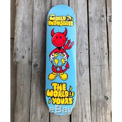 Iconic 8.25 World Industries Devil Man'The World is Yours' Skateboard Deck