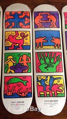 Keith Haring Alien Workshop Deck Skateboard Condo Murakami Kaws Hirst Supreme
