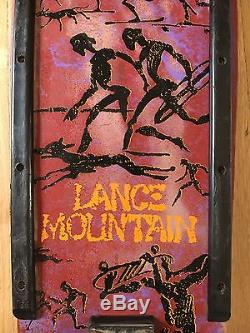 Lance Mountain Pink Powell Peralta Bones vintage 1980s skateboard deck complete